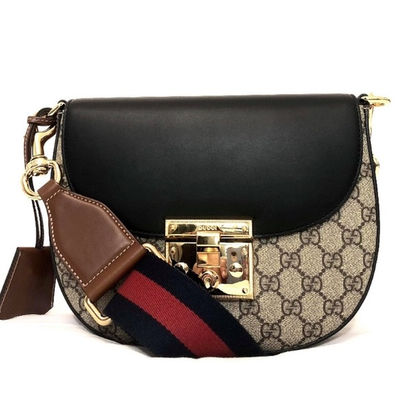 a70178269c07 Gucci Bags | Mono Gg Supreme Medium Padlock Shoulder Bag | Poshmark